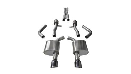 Corsa 15+ Dodge Charger SRT / Scat Pack / R/T 6.4L Black Sport Cat-Back Exhaust 14995BLK