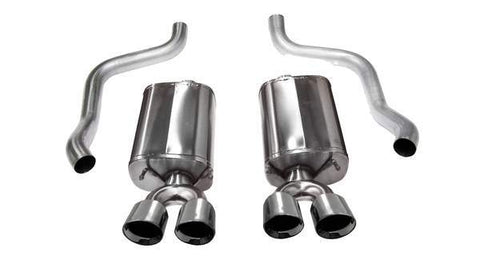 Corsa 09-13 Corvette (C6) 6.2L Polished Sport Axle-Back Exhaust w/4.5in Tips 21011