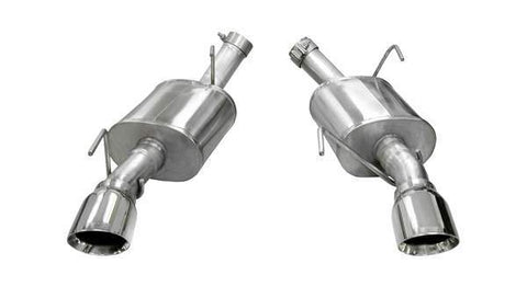 Corsa 05-10 Ford Mustang Shelby GT500 5.4L V8 Polished Xtreme Axle-Back Exhaust