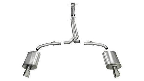 Corsa 10-13 Ford Taurus SHO 3.5L V6 Turbo Polished Sport Cat-Back Exhaust