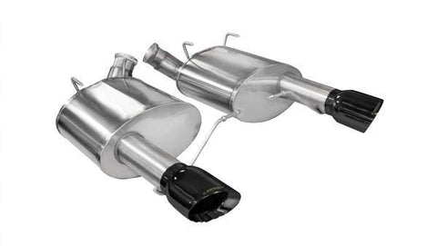 Corsa 11-14 Ford Mustang GT/Boss 302 5.0L V8 Black Sport Axle-Back Exhaust