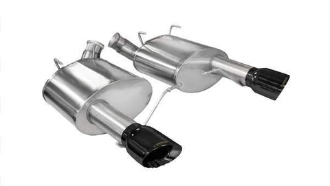 Corsa 11-14 Ford Mustang GT/Boss 302 5.0L V8 Black Xtreme Axle-Back Exhaust 14317BLK