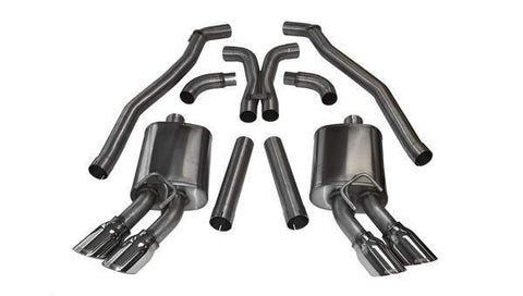 Corsa 12-15 Chevrolet Camaro Coupe ZL1 6.2L V8 Polished Sport Cat-Back + XO Exhaust 14971