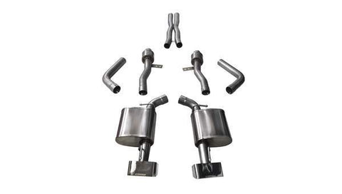 Corsa 15-16 Dodge Challenger SRT / Scat Pack / R/T 6.4L Polished Sport Cat-Back Exhaust