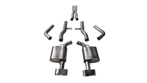 Corsa 15-16 Dodge Challenger SRT / Scat Pack / R/T 6.4L Polished Xtreme Cat-Back Exhaust