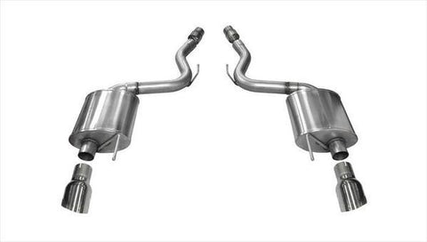 Corsa 2015 Ford Mustang GT 5.0 3in Axle Back Exhaust Polish Dual Tips (Touring)