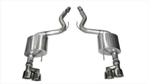 Corsa 15-16 Ford Mustang GT 5.0 3in Axle Back Exhaust Polish Quad Tips (Sport)