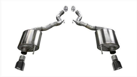 Corsa 15-16 Ford Mustang GT Convertible 5.0L V8 Black Sport Axle-Back Exhaust