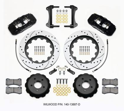 Wilwood AERO6 Front Hat Kit 15.00 Drilled 2015-Up Mustang w/Lines 140-13887-D