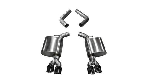 Corsa 15-19 Dodge Challenger 6.4L/17-19 Challenger 5.7L Black Sport Axle-Back Exhaust w/3.5in Tips 21020BLK