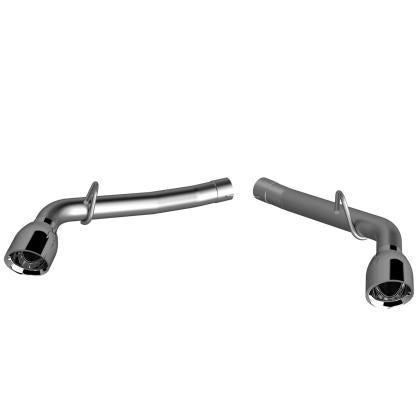 QTP 14-15 Chevrolet Camaro SS 6.2L 304SS Eliminator Muffler Delete Axle Back Exhaust w/4.5in Tips 700114
