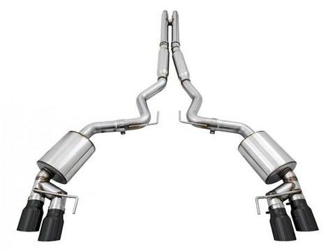 AWE Tuning S550 Mustang GT Cat-Back Exhaust - Touring Edition - GT350 Valance (Diamond Black Tips) 3015-43100