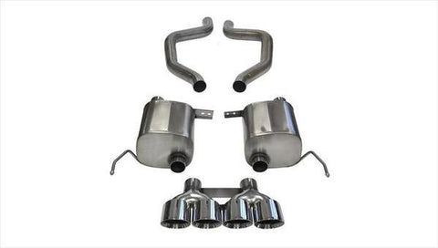 Corsa 15+ Corvette Z06 (Grand Sport M/T Only) 3in Axle Back Xtreme Exhaust Pol Quad 4.5in Tip 14766
