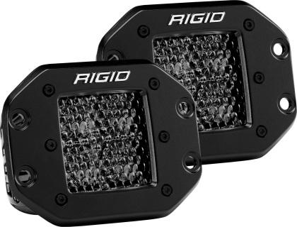 Rigid Industries D Series PRO Midnight Edition - Spot - Diffused - Pair 212513BLK