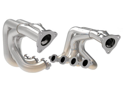 aFe Power 2020 C8 Corvette Twisted Steel 304 Stainless Steel Headers Brushed Finish 48-34148-H