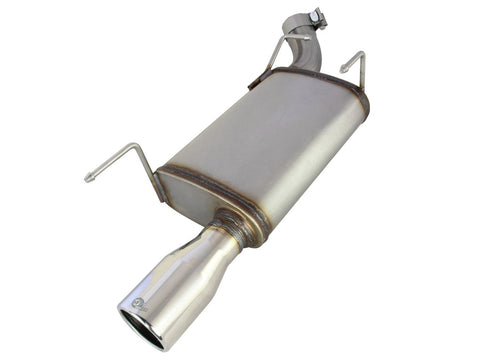 aFe Axle-Back Exhaust 2.5in 409SS w/Polished Tip 05-09 Ford Mustang V6 4.0L 49-43048