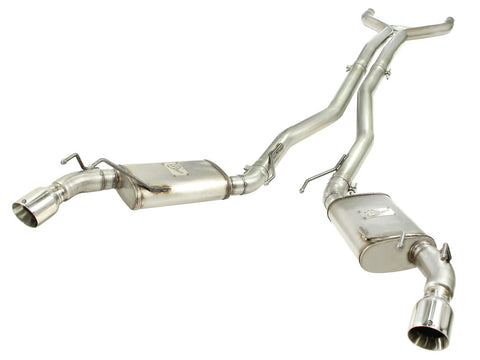aFe MACHForce XP Exhaust 3in Stainless Steel CB/10-13 Camaro V8-6.2L (td) (pol tip) 49-44039-P