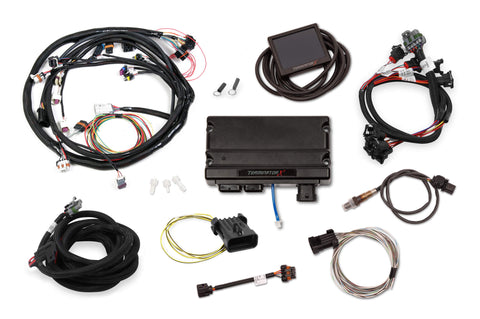 "Holley Terminator X Universal MPFI Kit Universal MPFI Main Harness - EV1 Injector Harness, 3.5"" Touchscreen Included"