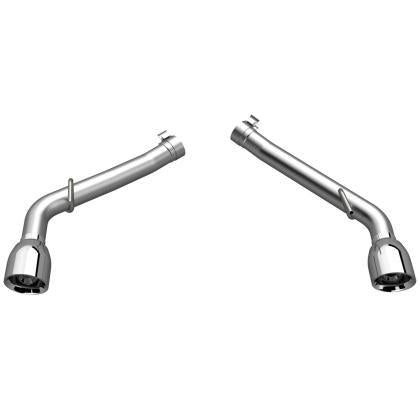 QTP 10-13 Chevrolet Camaro SS 6.2L 304SS Eliminator Muffler Delete Axle Back Exhaust w/4.5in Tips 700110