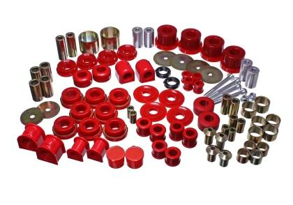Energy Suspension 15-16 Ford Mustang Red Hyper-Flex Master Bushing Set 4.18127R