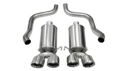 Corsa 05-13 Chevrolet Corvette C6 6.0L V8 Polished Xtreme Axle-Back Exhaust 14469