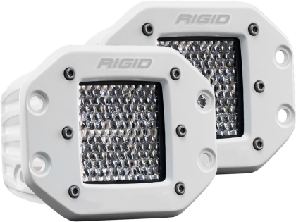 Rigid Industries Marine - Flush Mount - D2 - 60 Deg. Lens - Set of 2 712513