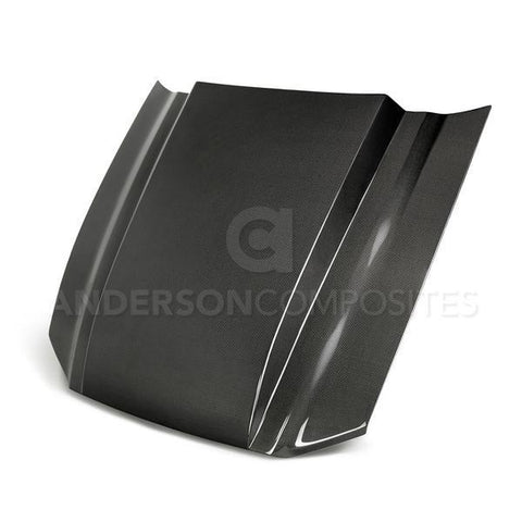 Anderson Composites 2013-2014 Ford Mustang Type-CJ Carbon Fiber Cowl Hood AC-HD13FDMU-CJ