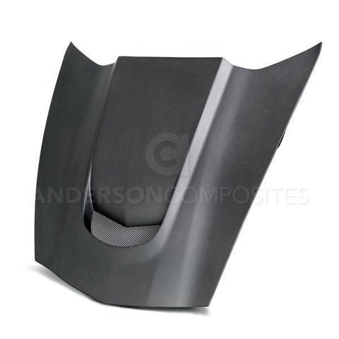 Anderson Composites 14-16 Chevy Corvette C7 Stingray Dry Carbon Fiber Hood AC-HD14CHC7-VS-DRY