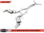 AWE Tuning 16-19 Chevy Camaro SS Non-Resonated Cat-Back Exhaust -Touring Edition (Diamond Black Tip) 3020-33054