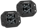 Rigid Industries D2 - Midnight Edition Flush Mount Spot Lights 212213BLK
