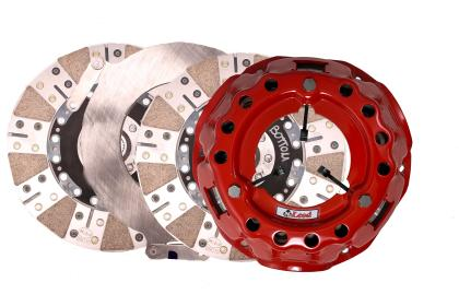 McLeod SFT LS Engine - 6 Bolt Crank - 1-1/8in x 26 Spline - Aluminum 164T Flywheel Twin Clutch Kit 83048B07M