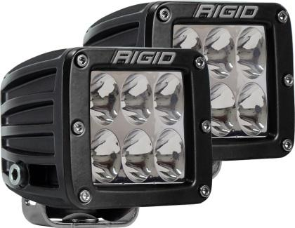 Rigid Industries D Series - Driving SM Amber (Pair) - 6 LEDs 502323