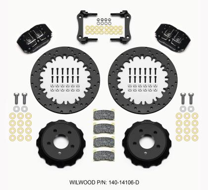 Wilwood Dynapro Radial Rear Drag Kit 12.90in Drilled 2015-Up Mustang 140-14106-D