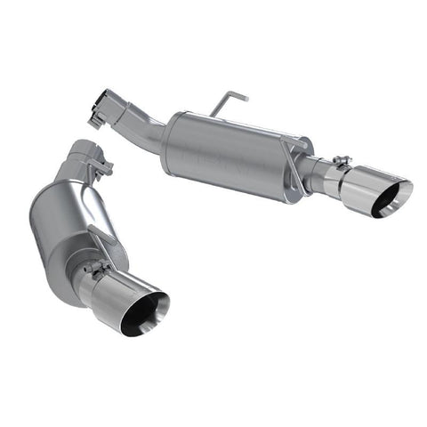 MBRP 05-10 Ford Mustang GT 5.0/Shelby GT500 Dual Mufflers Axle Back Split Rear T304 S7200304