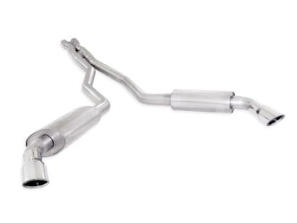 Stainless Works 2010-15 Camaro 6.2L 3in Exhaust X-Pipe S-Tube Turbo Mufflers Polished Tips CA10CBL-LMF