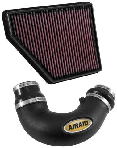 Airaid 10-15 Chevy Camaro SS 6.2L V8 F/I Airaid Jr Intake Kit - Oiled / Red Media 250-714