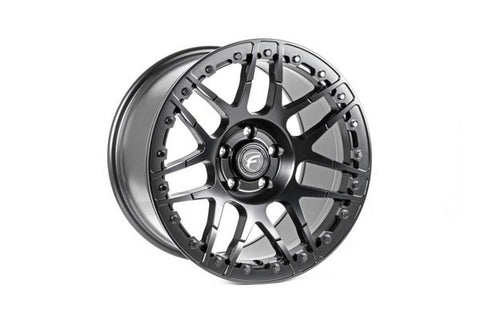Forgestar F14 Beadlock Drag Racing Wheels Matte Black 17X11 C6 Z06