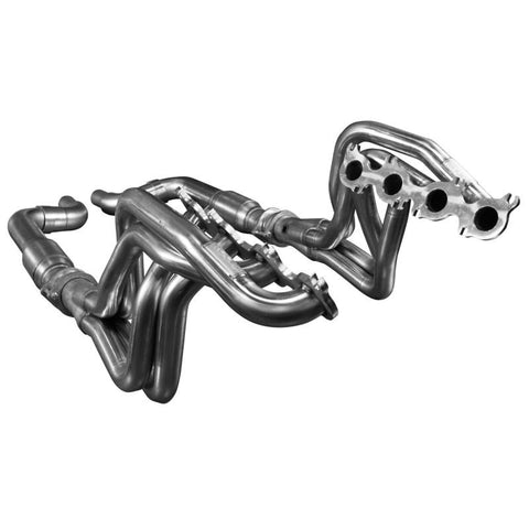 "Kooks 2015 + Mustang GT 5.0L 1 3/4"" x 3"" Long Tube Header w/ GREEN Catted Connection Pipe 1151H231"