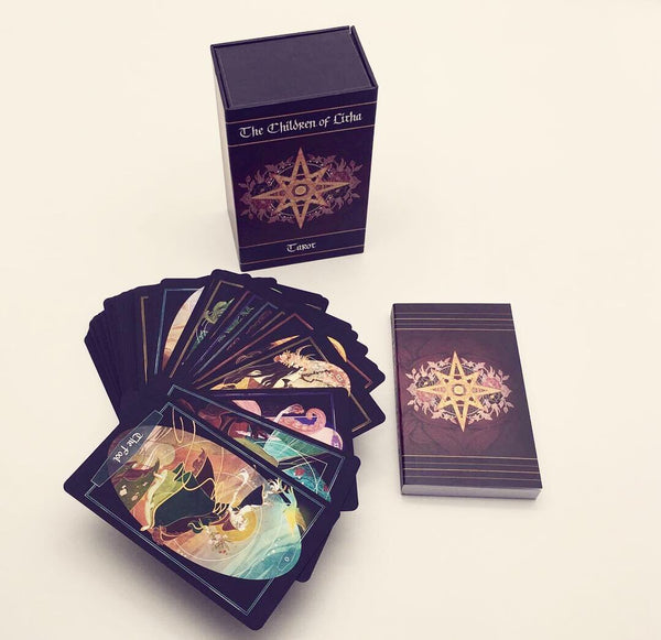 Children of Litha tarot card deck & book SET- BLACK EDITION