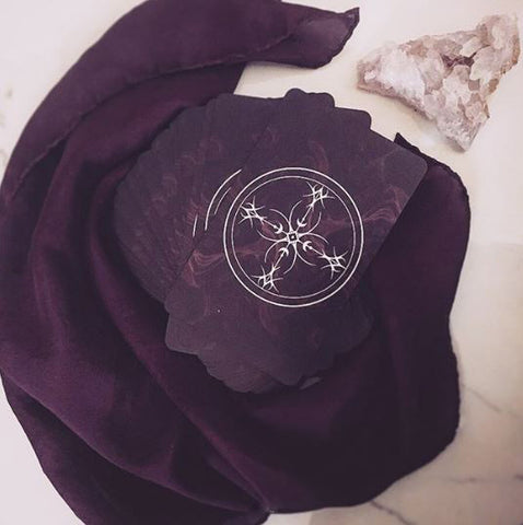 100% Silk Tarot Reading Cloth - Hand-Dyed **PREORDER**