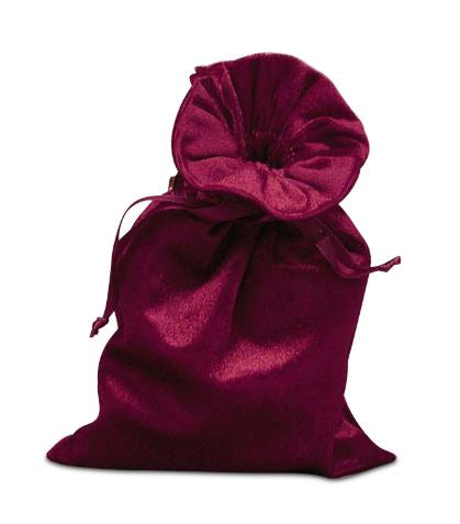 Velvet travel pouch for tarot deck - Black or Wine