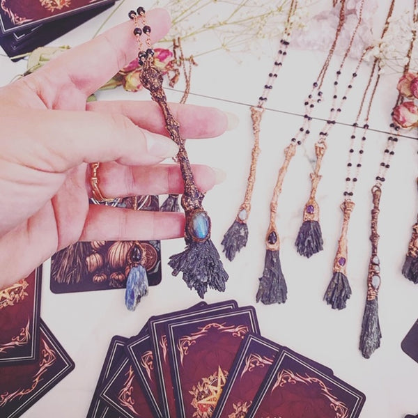 Once in a Blue Broom Kyanite Talisman Necklaces