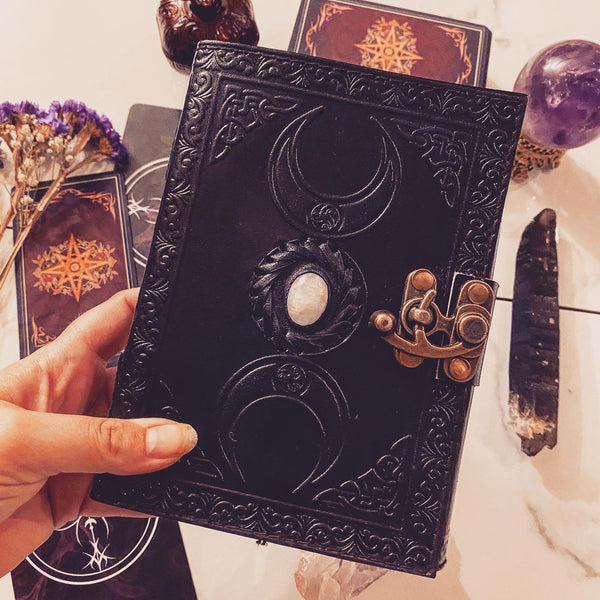 Triple Goddess Moonstone tarot journals