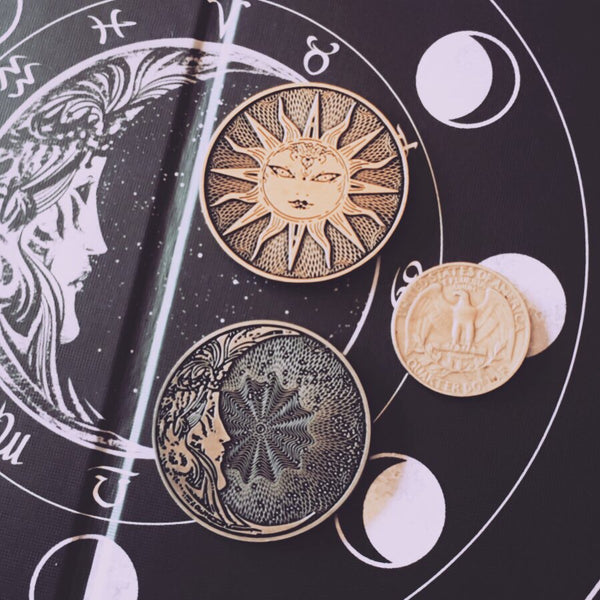 Sol & Luna Lucky Divination Coin