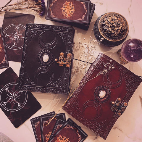 SALE! Triple Goddess Moonstone tarot journals