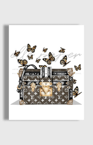 Butterflies Art Print by Elle Paper