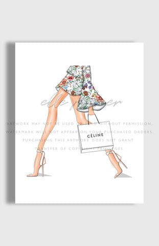 Walking Down 5th Fashion Art Print