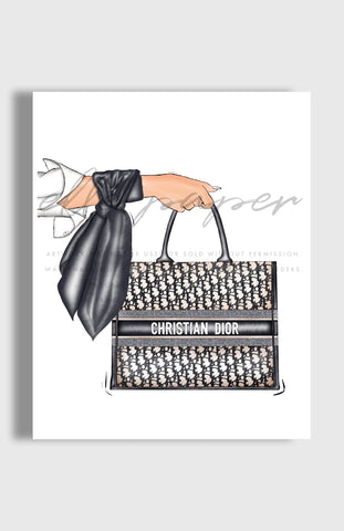 Dior Drop-Off Art Print by Elle Paper