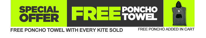 FREE PONCHO TOWEL WITH EVERY KITE SOLD