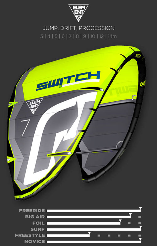 ELEMENT 6 Switch Kiteboarding